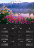 Wildflowers in Bloom by Lake on Mount Rainier Poster by Craig Tuttle