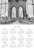 Pedestrian Walkway on the Brooklyn Bridge Posters by  Bettmann