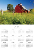 Red Barn in Long Grass Poster by Bob Krist