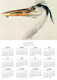 Heron with a Fish Prints by William Turner