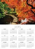 Autumn Colors in Butchart Gardens, Victoria, Vancouver Island, British Columbia, Canada Poster by  Barrett & Mackay