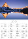 Matterhorn reflected in lake Print by Frank Lukasseck