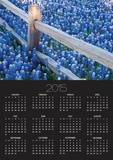 Bluebonnets Along Fenceline Prints by Terry Eggers