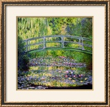 The Waterlily Pond with the Japanese Bridge, 1899 Impressão giclée emoldurada por Claude Monet