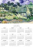 Thatched Cottages at Cordeville, Auvers-Sur-Oise, c.1890 Poster by Vincent van Gogh