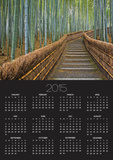 Bamboo Lined Path at Adashino Nembutsu-ji Temple Poster by Rudy Sulgan