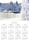 Tahquamenon Falls in Snow Poster by Jim Zuckerman