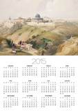 """Jerusalem, April 9th 1839, Plate 16 from Volume I of """"The Holy Land"""" Poster by David Roberts"""
