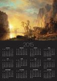 Sunset in the Rockies Poster by Albert Bierstadt