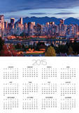 Vancouver skyline in front of North Shore Mountains Posters by Ron Watts