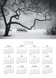 Park Benches In The Snow In Chicago Posters by Alex Fradkin
