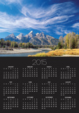 Cirrus Clouds over Teton Range and Snake River Posters