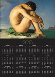 Naked Young Man Sitting by the Sea, 1836 Print by Hippolyte Flandrin