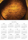 Aztec Carved Calendar Stone Psters por Randy Faris