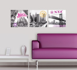New York Impressions Wall Decal