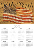 Constitution and U.S. Flag Poster by Joseph Sohm