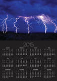 Lightning Storm over Prairie Poster by Aaron Horowitz