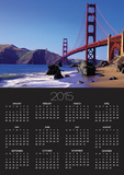 Beach and Golden Gate Bridge Posters by William Manning