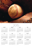 Old Baseball in Glove Posters by Danilo Calilung