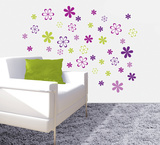 Jazzy Blooms Wall Decal