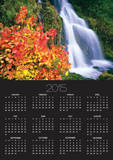Autumn Leaves by Rushing Waterfall Print by Craig Tuttle