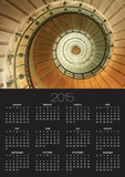 Spiral Staircase at Eckmuhl Lighthouse in Brittany Prints by Owen Franken