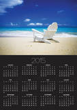 Beach Chair on Empty Beach Posters by Randy Faris