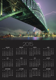 Bridge and Lightning at Sydney Harbour Posters by Paul Souders