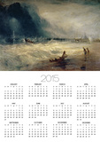 Lifeboat and Manby Apparatus Going off to a Stranded Vessel Making Signal of Distress, circa 1831 Posters by William Turner