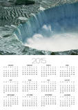 Water Rushing over Horseshoe Falls Poster by Ron Watts