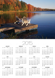 Adirondack Chairs on Dock at Lake Prints by Ralph Morsch