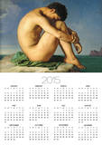 Naked Young Man Sitting by the Sea, 1836 Prints by Hippolyte Flandrin