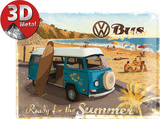 VW Ready for a Hot Summer Emaille bord