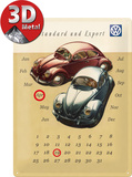 VW Käfer Duo Kalender Plaque en métal