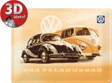 VW Käfer & Bus Cartel de metal