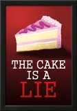 The Cake is a Lie Portal Video Game Poster Print Prints