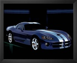 Dodge Viper Blue Car Art Print Poster Print