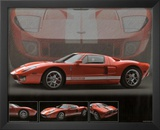 2005 Ford GT40 Orange Car Art Print Poster Prints