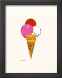 Ice Cream Dessert, c.1959 (Red, Pink and White) Poster by Andy Warhol