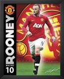 Manchester United FC Wayne Rooney Sports Poster Print Art