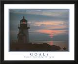 Goals Motivational Lighthouse Art Print POSTER quality Poster