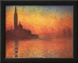 Dusk in Venice Prints by Claude Monet