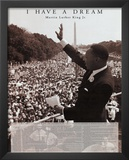 Martin Luther King Jr (I Have a Dream) Art Poster Print Art
