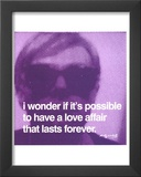 Love Affair Print by Andy Warhol