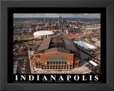 Indianapolis Colts Lucas Oil Stadium First Game Sports Print by Mike Smith