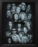 Metal Heroes (Ozzy Scott Ian Metallica Lemmy David Lee Roth Van Halen Led Zeppelin) Poster Poster