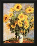 Sunflowers Print by Claude Monet
