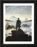 Caspar Friedrich (Wanderer Above the Sea of Fog) Art Poster Print Print