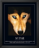 No Fear Hellen Keller Quote Dog Art Print Poster Print