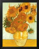 Vincent Van Gogh (Vase with Twelve Sunflowers, Les Tournesols) Art Poster Print Art